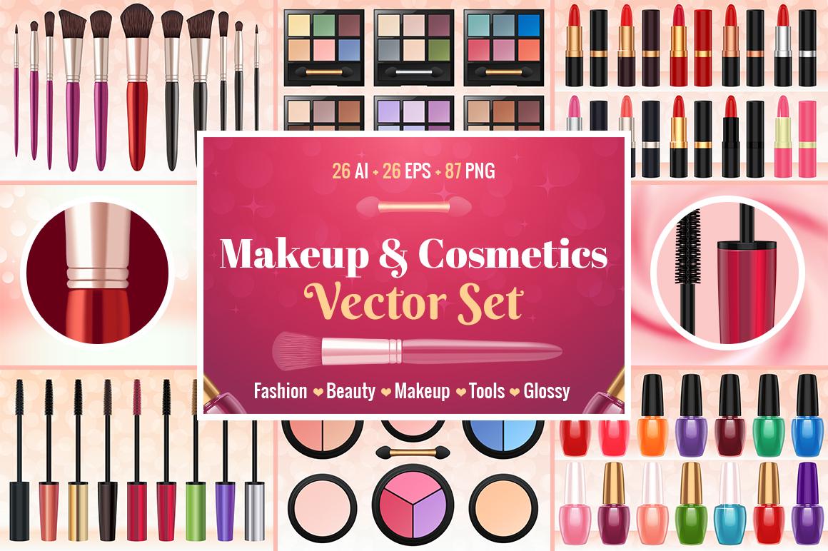 0 Makeup & Cosmetics Vector Set Preview.jpg