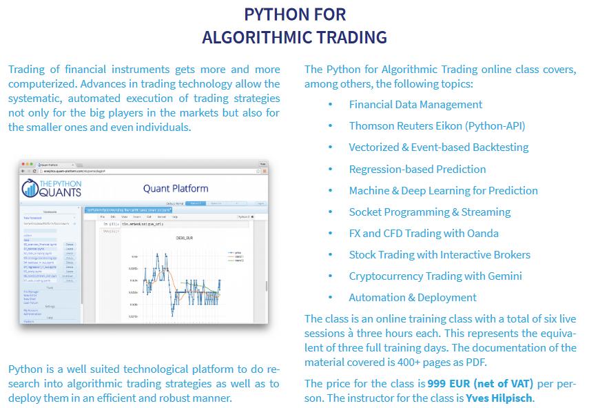Algorithmic Trading Python