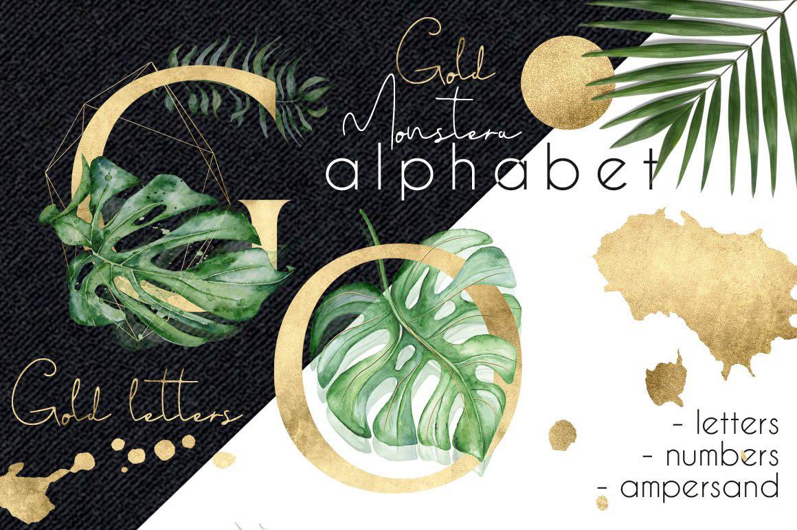Gold_Monstera_tropical_alphabet_01.jpg