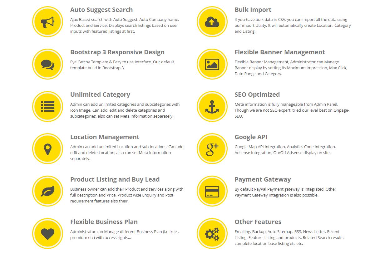Yellow Pages Php Script - Скрипт каталога компаний   Складчина