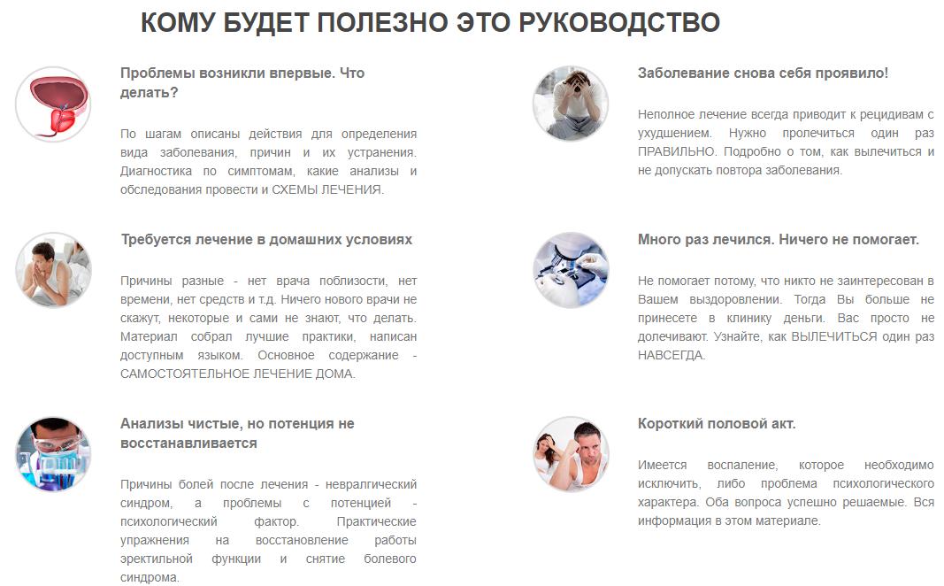 Методика лечения простатита для врачей лекарство от простатита у мужчин российского производства