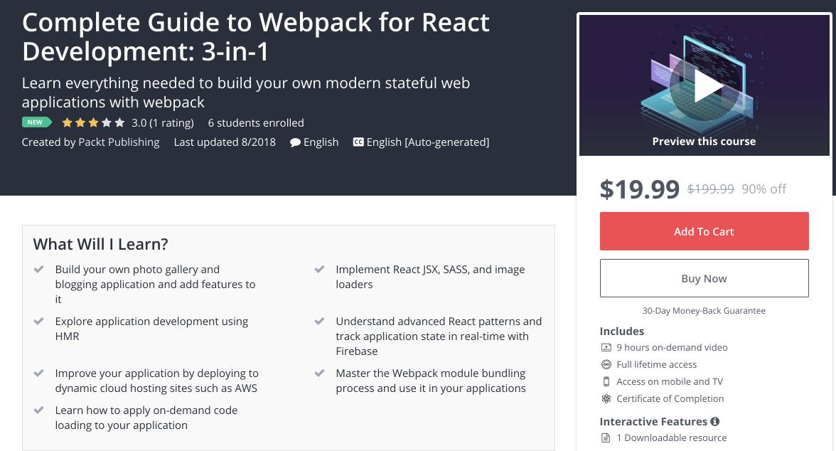 Полное руководство по Webpack для разработки на React  3 в 1