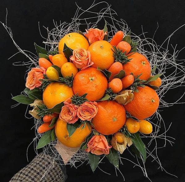 Букет из цитрусовых фото, тюльпаны цена ростове