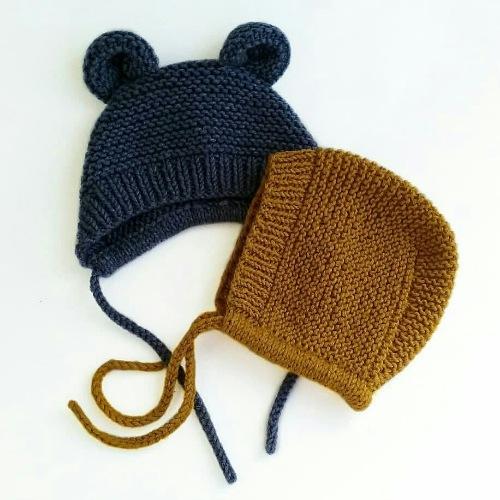 вязание классический чепчик спицами Knittingpattern складчина